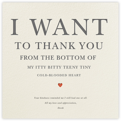 Teeny Tiny Itty Bitty Thank You - Derek Blasberg - Online Thank You Cards