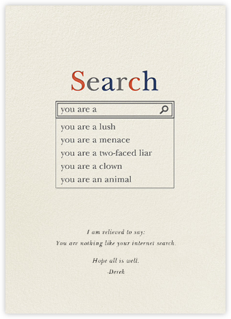 Really Real Search Results - Derek Blasberg - Just because cards