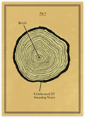 Tree Rings - Anniversary - Paperless Post - Anniversary Cards