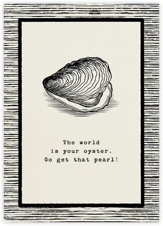 The Big Oyster - Good Luck - Paperless Post - Good luck cards
