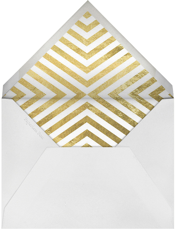 It's Greek - Gold - Jonathan Adler - Holiday cocktail party invitations - envelope back