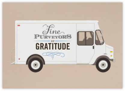 Gratitude - Delivery Truck - Paperless Post - Online Thank You Cards