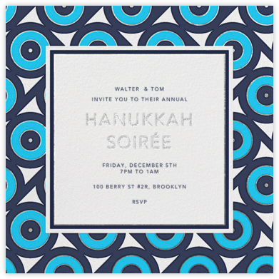 Archer - Blue - Jonathan Adler - Hanukkah Invitations