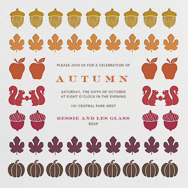Autumn Stash - Jonathan Adler - Thanksgiving invitations