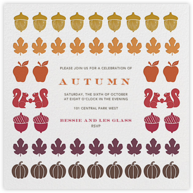Autumn Stash - Jonathan Adler - Thanksgiving invitations