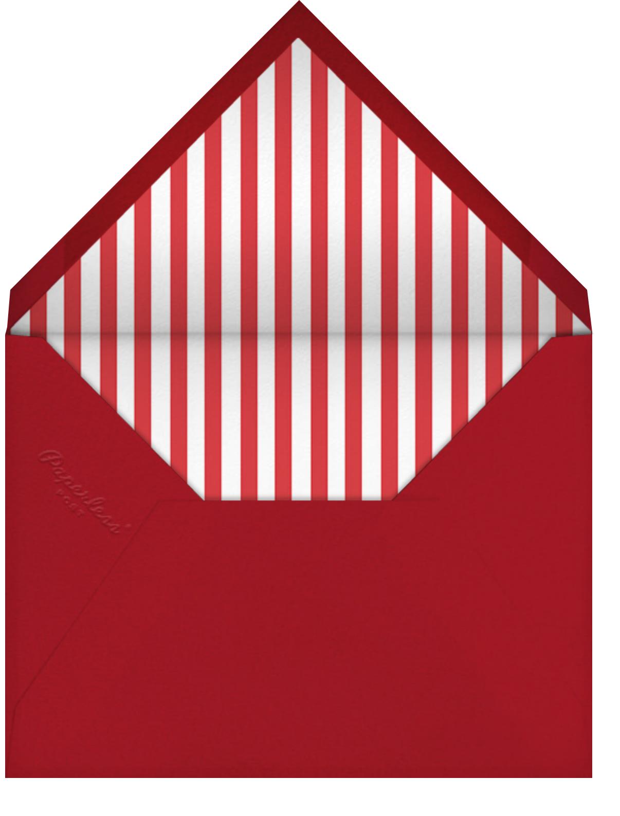 Positano - Red/Green - Jonathan Adler - Holiday party - envelope back