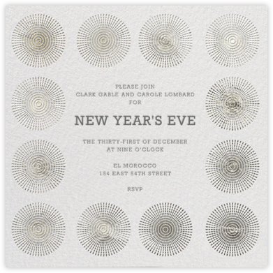 Santorini - Silver - Jonathan Adler - New Year's Eve Invitations