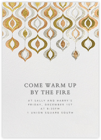 Shiny and Sparkly - Jonathan Adler - Winter entertaining invitations