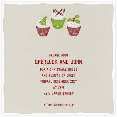 Holiday Cupcakes - Paperless Post - Invitations