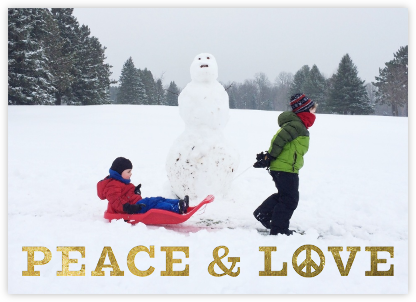 Peace and Love - Jonathan Adler - Holiday Cards