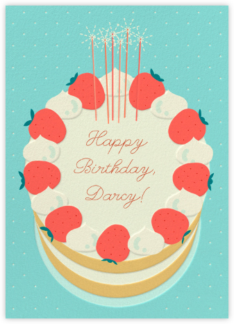 Strawberry Cream Cake - Paperless Post - Birthday cards