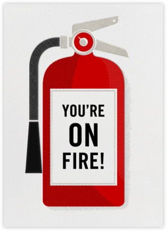 Fire Extinguisher - Congratulations - Paperless Post