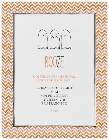 Boo or Booze - Mr. Boddington's Studio - Halloween invitations