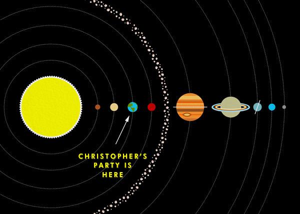 Solar System - Paperless Post - Invitations