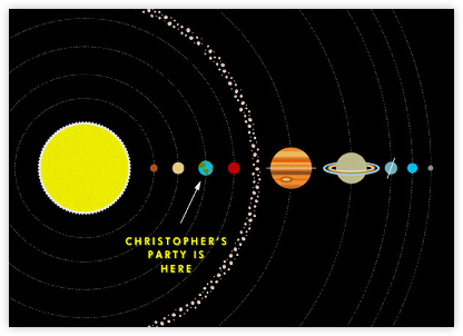 Solar System - Paperless Post - Birthday invitations
