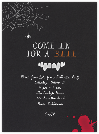 A Vampire's Soiree - Mr. Boddington's Studio - Invitations