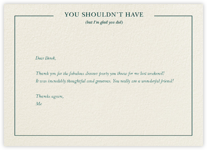 You Shouldn't Have - Derek Blasberg - Online thank you notes