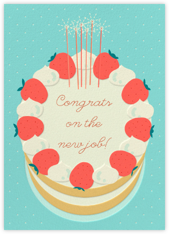 Strawberry Cream Cake - Paperless Post - Congratulations cards