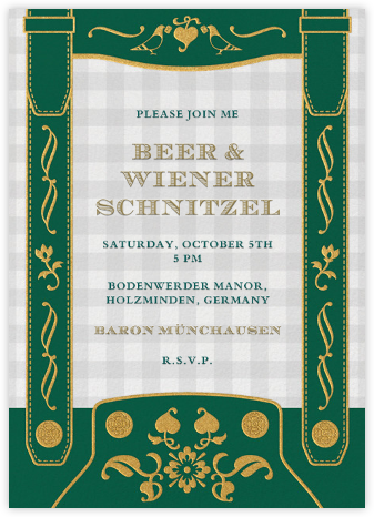 Lederhosen - Paperless Post - Oktoberfest invitations