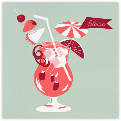 Tiki Drink - Paperless Post - Birthday Cards