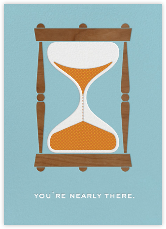 Hourglass - Good Luck - Paperless Post - Online greeting cards