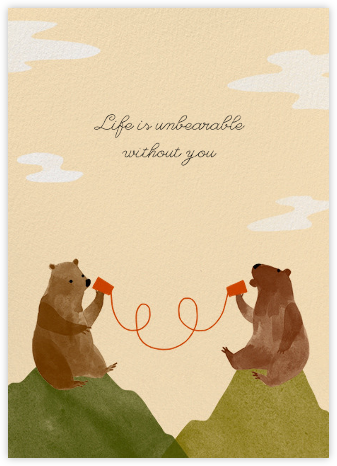 Bear Mountain - Paperless Post - Online greeting cards