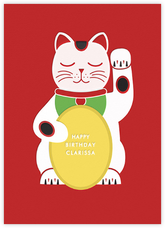 Lucky Cat - Birthday - Paperless Post - Birthday Cards for Her