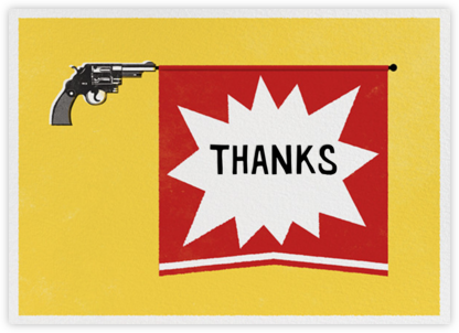 Bang Gun - Thank You - Paperless Post - Thank you cards