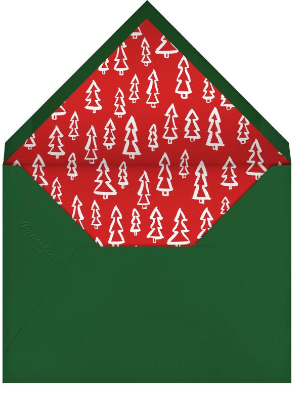 Merry Christmas Wreath (Tall) - White - Linda and Harriett - Christmas - envelope back