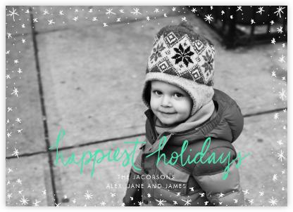 Holiday Wink (Horizontal) - Green - Linda and Harriett -