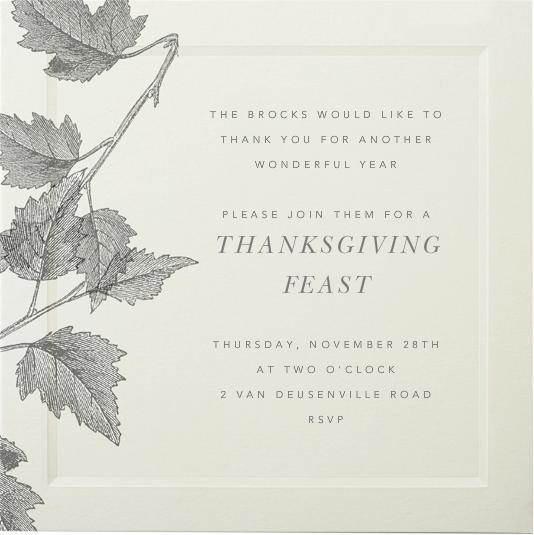 Saint Emilion - Paperless Post - Thanksgiving invitations