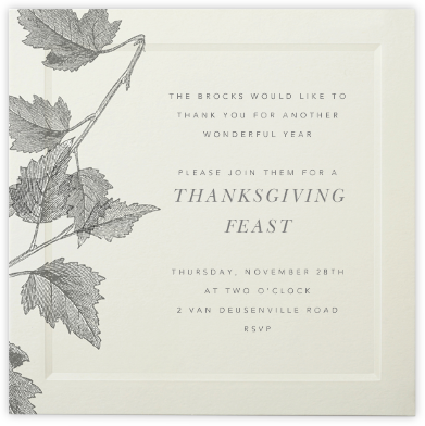 Saint Emilion - Paperless Post - Fall Entertaining Invitations