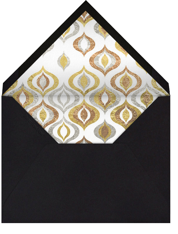 Shiny and Sparkly - Jonathan Adler - New Year's Eve - envelope back