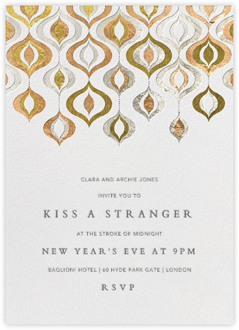 Shiny and Sparkly - Jonathan Adler - New Year's Eve Invitations