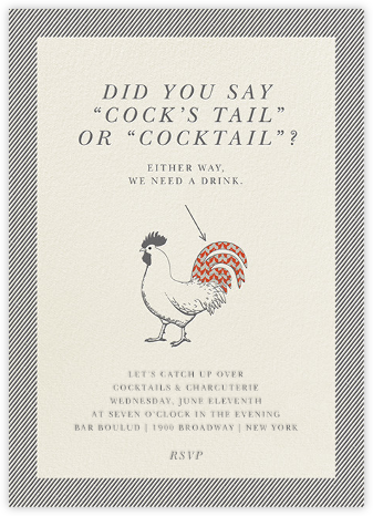 Cock's Tail and Cocktails - Derek Blasberg - Derek Blasberg