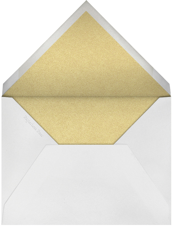 Classic Loop - Gold - Paperless Post - Address collection cards - envelope back