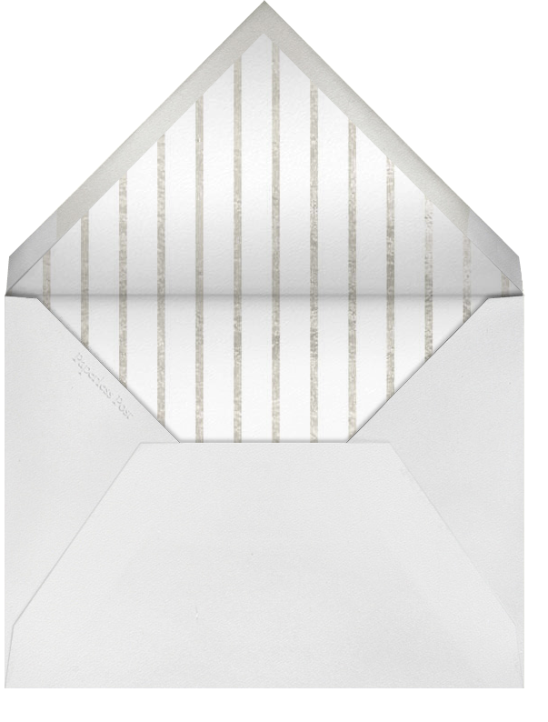 Classic Loop - Silver - Paperless Post - Address collection cards - envelope back