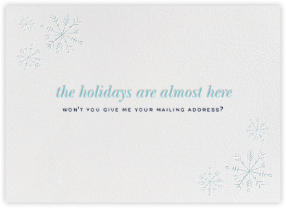 Snowflake Address - Paperless Post -