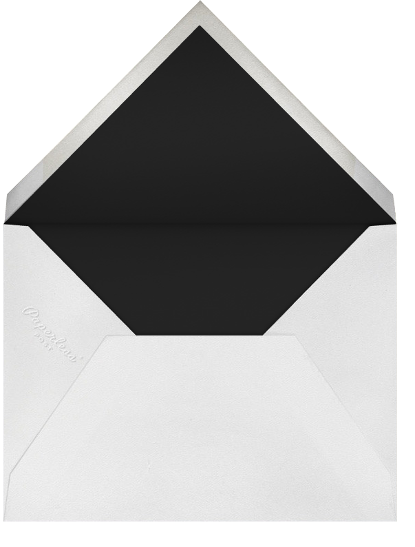 The Classic - Silver - Paperless Post - Address collection cards - envelope back