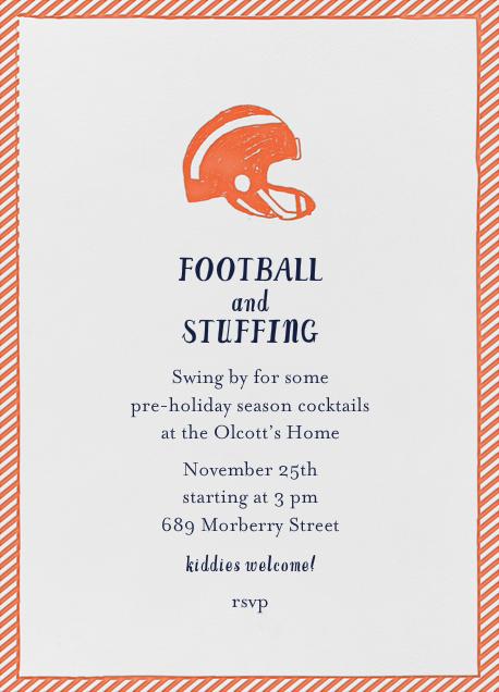 Football and Ball of Stuffing - Gourd - Mr. Boddington's Studio - Thanksgiving invitations