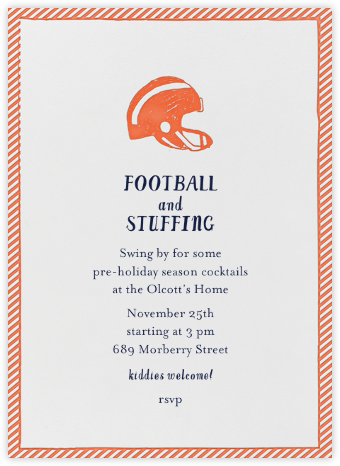 Football and Ball of Stuffing - Gourd - Mr. Boddington's Studio - Sporting Event Invitations