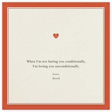Conditions of Love - Derek Blasberg - Online greeting cards