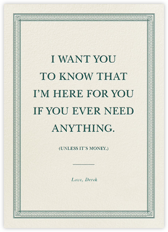 Everything But the Bills - Derek Blasberg - Get well cards