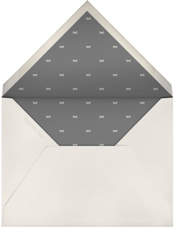 Is that a present in your pocket? - Derek Blasberg - Holiday party - envelope back