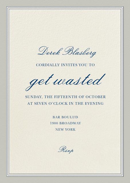 Let's Get Wasted - Derek Blasberg - New Year's Eve