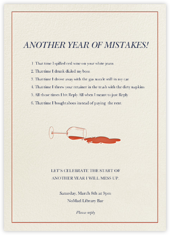 New Year, New Mistakes - Derek Blasberg -