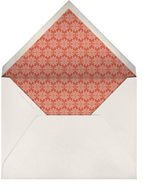 Not Those Knits - Derek Blasberg - Christmas party - envelope back