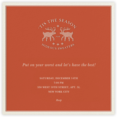 Not Those Knits - Derek Blasberg - Holiday invitations