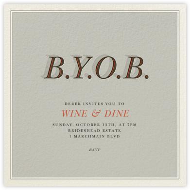 BYOB - Derek Blasberg -