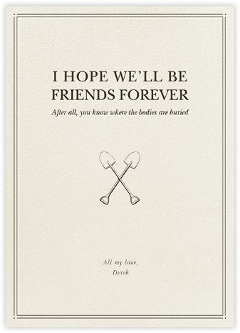 Besties and Bodies - Derek Blasberg - Just because cards